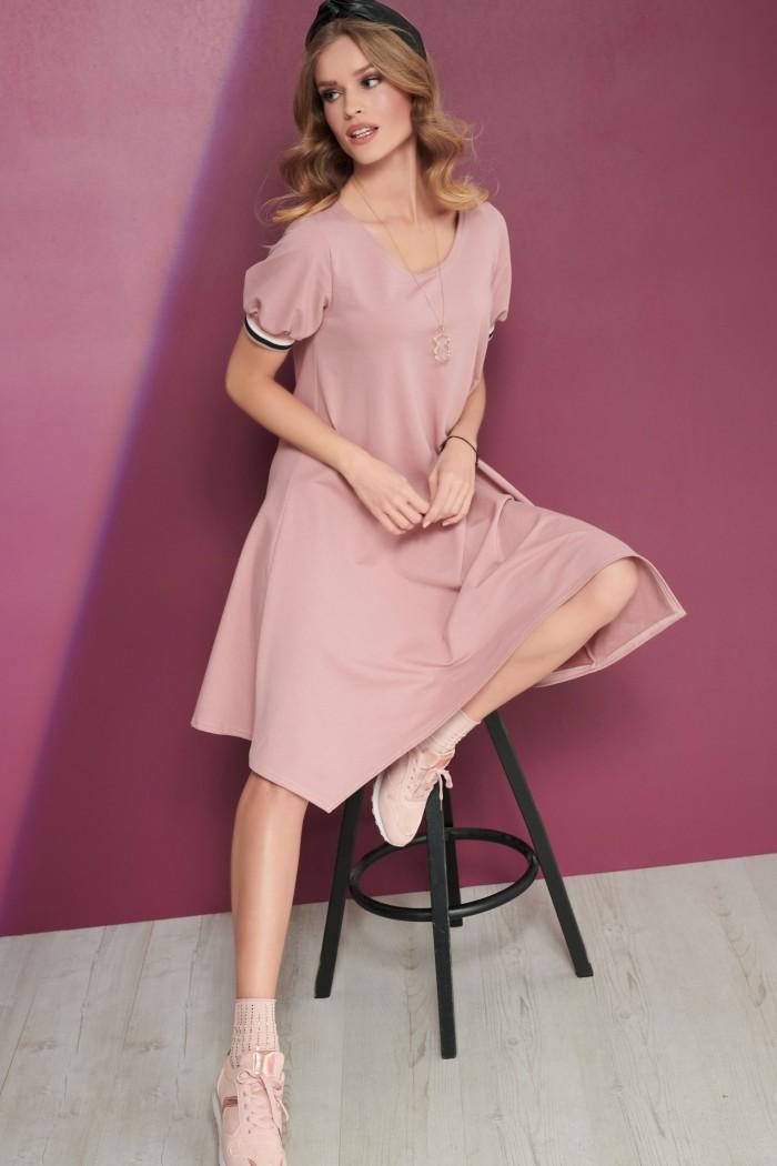 asimetrična tunika roza