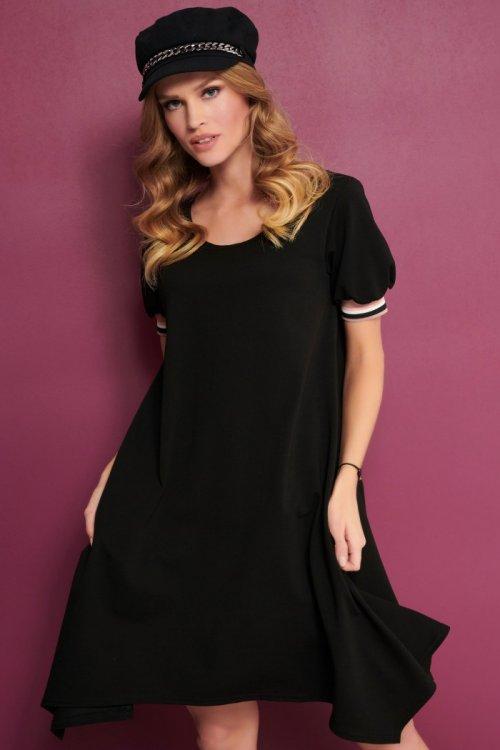 asimetrična črna tunika