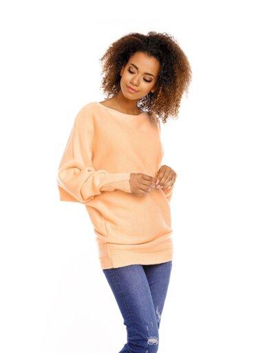 pulover-s-širokimi-rokavi-marelična-barva