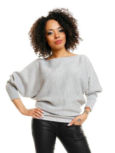 pulover-s-širokimi-rokavi-svetlo-siv