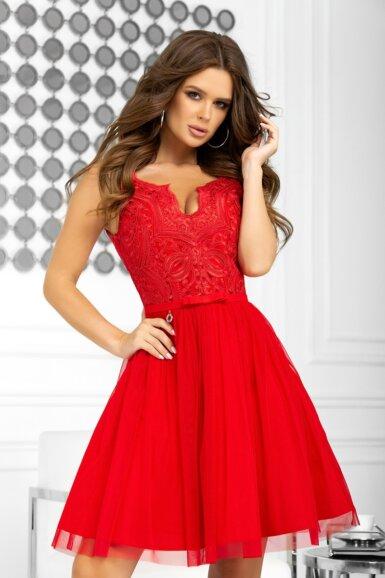 svecana-kratka-obleka-rdeca