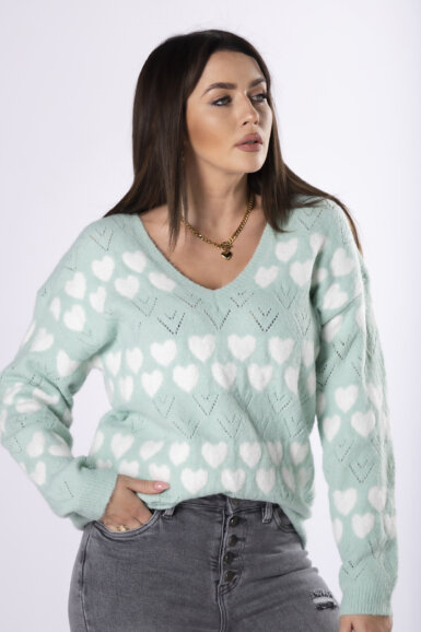 pulover-s-srcki-pastelno-zelen