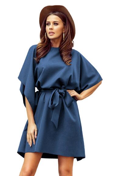 tunika-obleka-metulj-modra