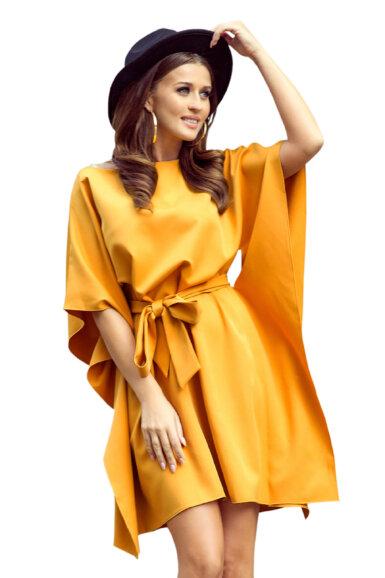 tunika-obleka-metulj-rumena
