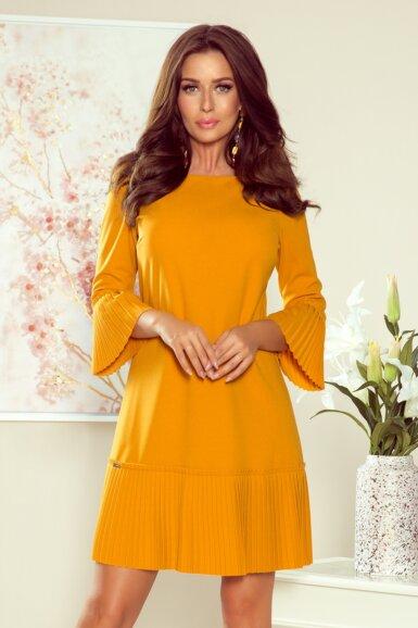 obleka-s-plise-dodatki-rumena