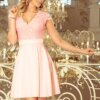 romatnična-obleka-s-čipko-za-poroko-birmo-valeto-roza