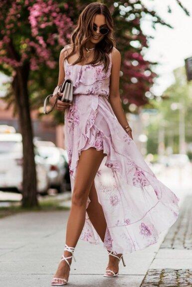 obleka-šifon-volančki-nežen-vzorček-elegantna