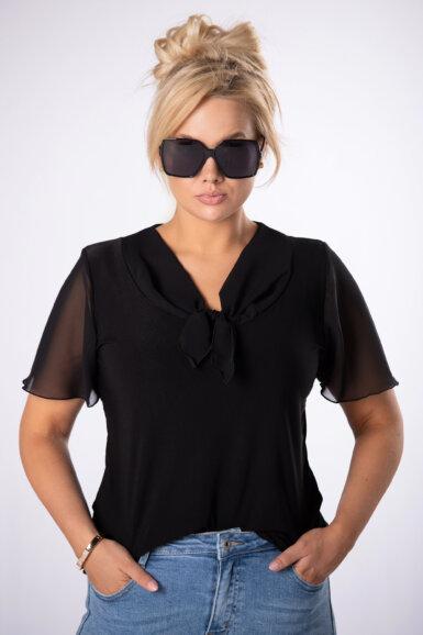 majica-bluza-z-mini-pentljo-črna