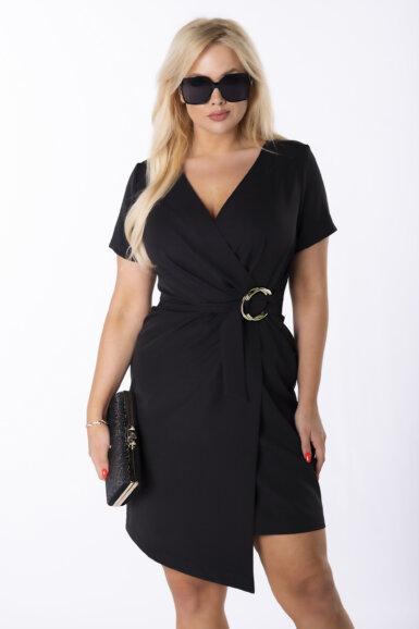 elegantna-obleka-z-asimetricnim-spodnjim-robom-crna
