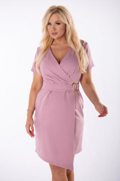 obleka-roza-s-paščkom