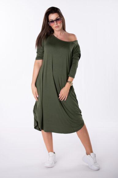 viskozna obleka ki jo nosite na več načinov zelena