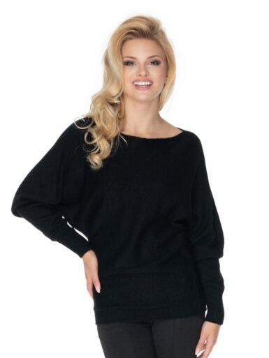 pulover-s-širokimi-rokavi-črn