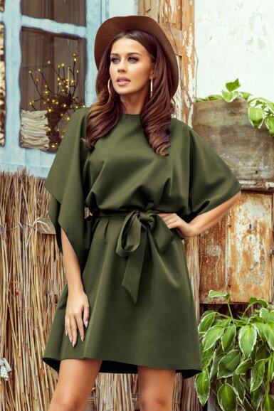 tunika-obleka-metulj-zelena