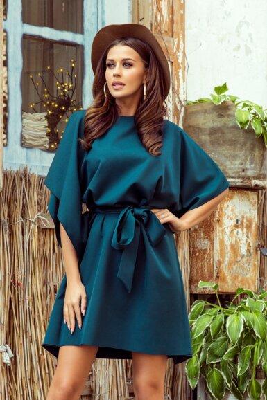 tunika-obleka-metulj-turkizna-zelena