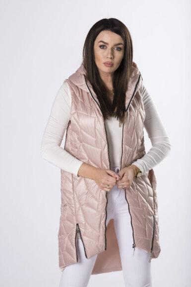 dolgi-brezrokavnik-s-kapuco-umazano-roza-barva