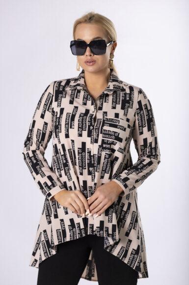 bluza-tunika-večje-velikosti-viskozna-bež-črna