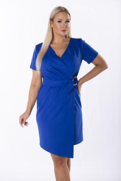 elegantna-obleka-z-asimetricnim-spodnjim-robom-pariško-modra