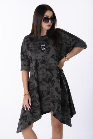 tunika obleka bombažna vojaški maskirni vzorec