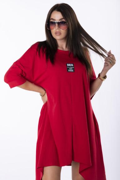 ugodna-cena-tunika-obleka-rdeča-asimetrična