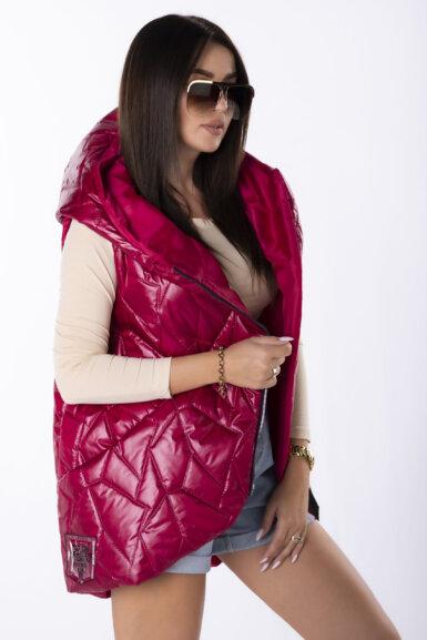 modni-brezrokavnik-s-kapuco-bordo-rdeč