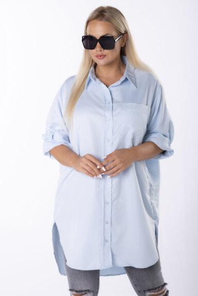 srajca-dolga-bombažna-svetlo-modra