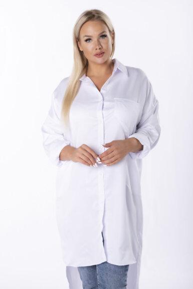 bombažna-srajčna-obleka-bela