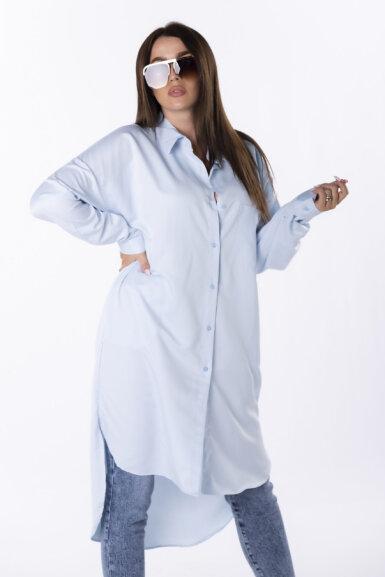 bombažna-srajčna-obleka-svetlo-modra