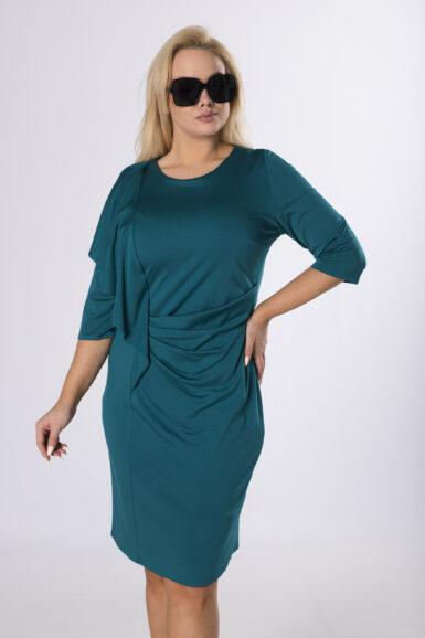 obleka-jersey-zelena