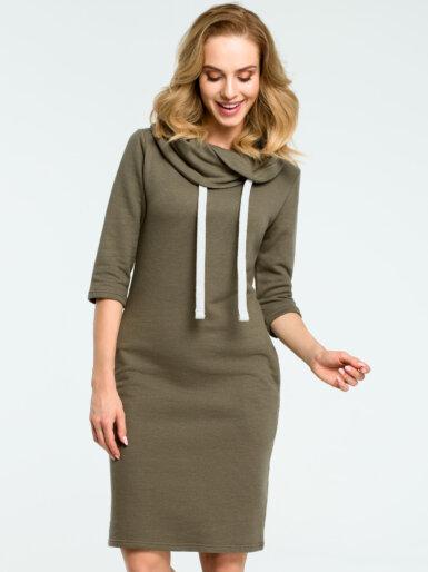 bombazna-obleka-z-modnim-ovratnikom-olivno-zelena