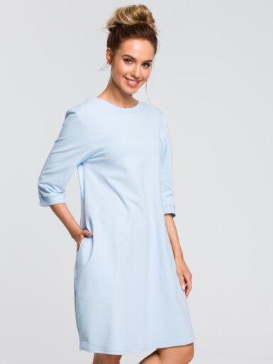 bombažna-obleka-na-balonček-svetlo-modra