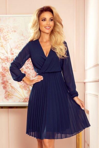 obleka-elegantna-plise-krilni-del-šifon