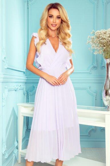 elegantna-obleka-dolga-plisirana-svetlo-vijolična