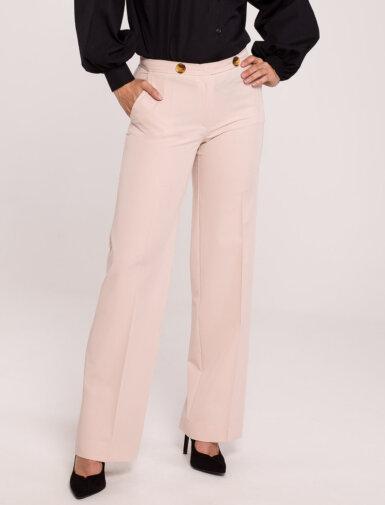 hlače elegantne ravni kroj BEŽ
