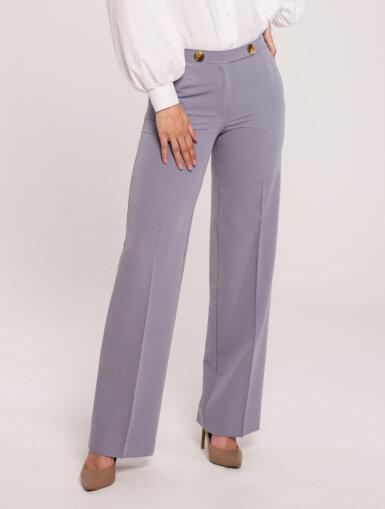 hlače elegantne ravni kroj sive