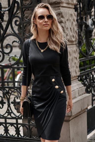 črna-ozka-elegantna-obleka
