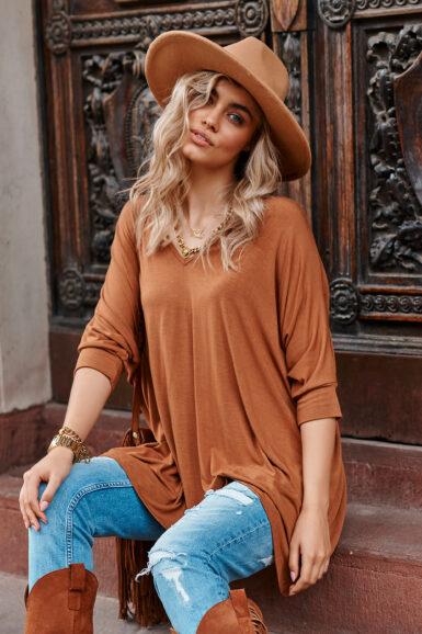 tunika-majica-enobarvna-viskozna-več-barv