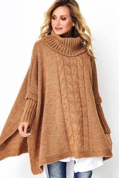 pončo-pulover-v-prevelikem-izgledu-kamelje-rjav