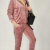 ženski-komplet-trenirka-na-zadrgo-s-kapuco-pliš-roza-večje-velikosti