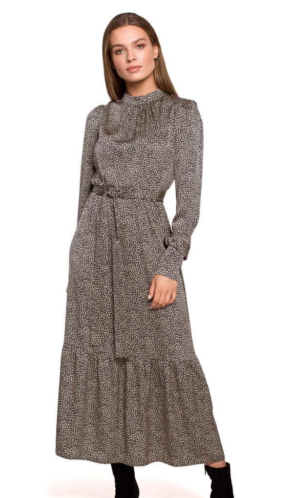 maxi-damska-elegantna-obleka-v-drobnem-vzorčku