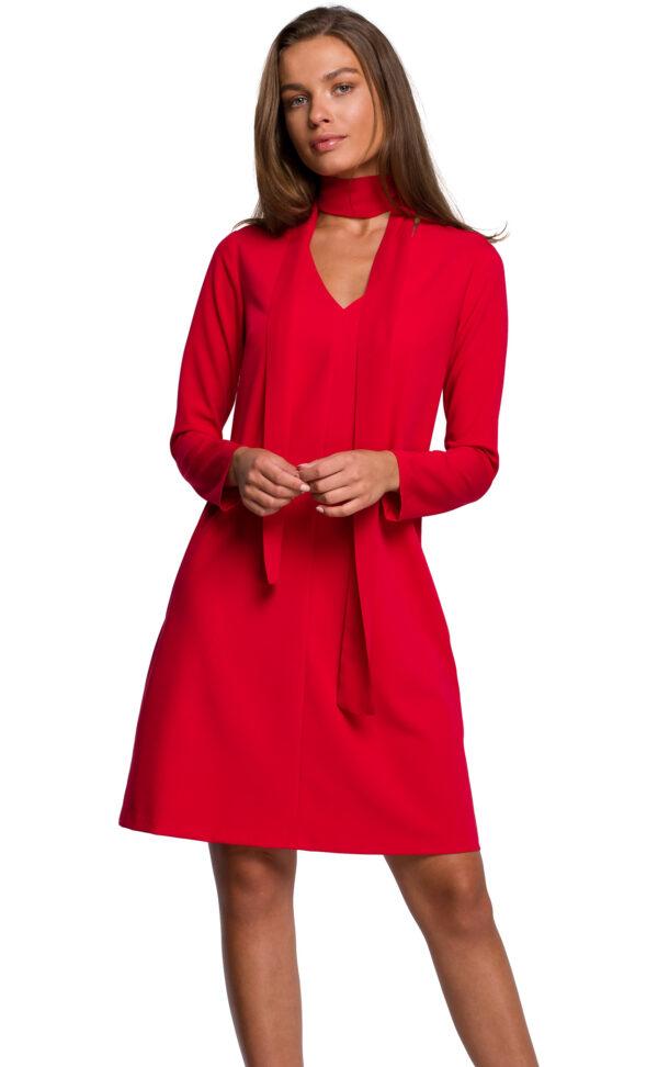 obleka-trapezna-na-a-rdeča